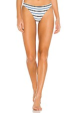 TM Rio de Janeiro Angra Bikini Bottom in Meringue & Blue