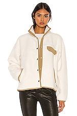The North Face Cragmont Fleece Jacket in Vintage White & Kelp Tan