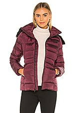 The North Face Gotham Jacket II With Faux Fur Trim in Deep Garnet Red