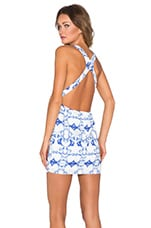 Enchanted Mini Dress in Bora Bora Print