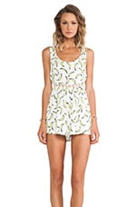 Toby Heart Ginger Banana Rama Playsuit in White & Yellow