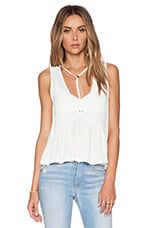 Tee Pee Peplum Top in Off White