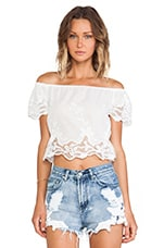 Windmill Crop Top in White