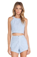 Jagger Crop in Chambray