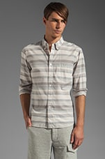 Varigated Horizontal Stripe Shirt in Blue