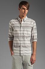 Varigated Horizontal Stripe Shirt in Blue