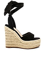 Tony Bianco Barca Wedge in Black Suede