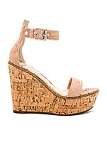 Tony Bianco Desi Wedge in Blush Kid Suede