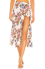 Tori Praver Swimwear Kayla Hollywood Floral Cover Up Skirt in Star