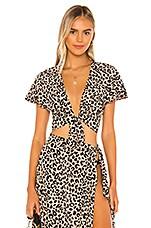 Tori Praver Swimwear Adeline Top in Leopard