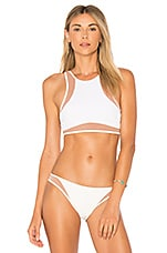 Tori Praver Swimwear Dany Bikini Top in White