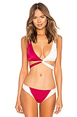 Tori Praver Swimwear Joy Wrap Top in Cranberry
