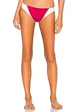 Tori Praver Swimwear Maelyn High Leg Cheeky Bottom in Cranberry