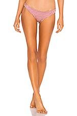 Tori Praver Swimwear Mimi Cheeky Bottom in Cranberry