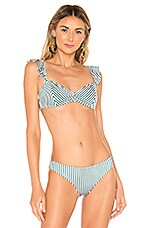 Tori Praver Swimwear Vada Top in Emerald