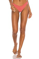 Tori Praver Swimwear Spencer High Leg Cheeky Bottom in Blush