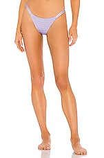 Tori Praver Swimwear Mickey Smocked Cheeky Bikini Bottom in Lilac
