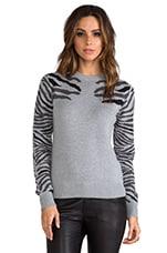 Torn by Ronny Kobo Shauna Zebra Knits Sweater in Grey
