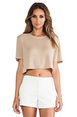 Nira Crop Tee in Natural