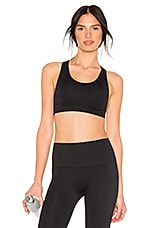 Morgan Stewart Sport Cross Back Sports Bra in Noir Black