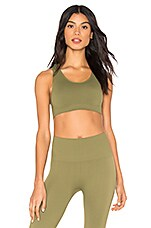 Morgan Stewart Sport Sage Cross Back Bra in Olive