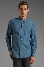 Nathan Button Up in Chambray