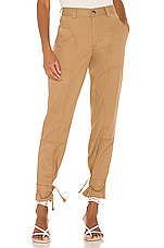 TRAVE Darcy Cinched Ankle Trouser in Blonde On Blonde