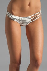 Free Fallin Ruched Bottom in White/Black Stripe