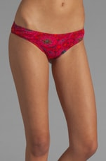 Rooms on Fire Bottom in Red Paisley/Cherry