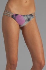 Wild Heart Reversible Ruched Bottom in Fuchsia/Grey Tie Dye