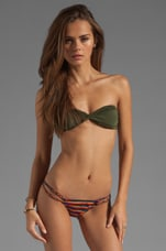 You Make Loving Fun Bandeau in Army Green