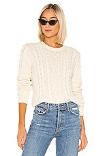 Birds of Paradis by Trovata London Textured Sweater in Antique White