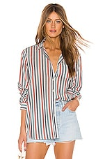 Birds of Paradis by Trovata Grace Classic Button Down in Multi Stripe