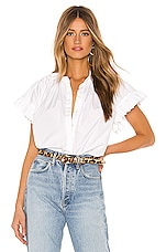 Birds of Paradis by Trovata Marianne Ruffle Sleeve Shirt in White