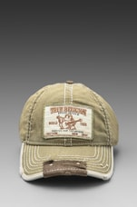 True Religion Buddha Patch Cap in Grass