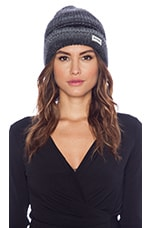 Variegated Knit Watchcap in Black