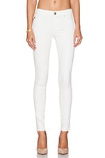Halle Mid Rise Super Skinny in Optic White