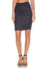True Religion Chloe Pencil Skirt in Coated Night