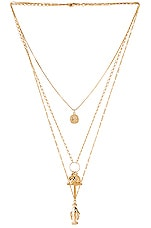 The M Jewelers NY Full Saint Layer Necklace in Gold