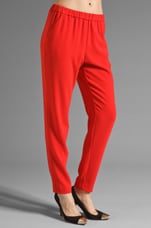 Crepe Suiting Gordon Pant in Cherry