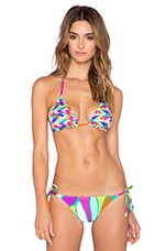 Tropicalia Reversible Triangle Bikini Top in Multi