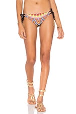 Moroccan Medallion Tie Side Hipster Bottom in Multi