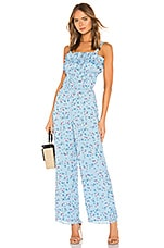 Tularosa Ellie Jumpsuit in Carolina Blue Floral