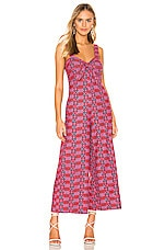 Tularosa Betsy Embroidered Jumpsuit in Pink Multi