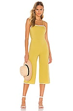 Tularosa Isabeli Jumpsuit in Chartreuse Green