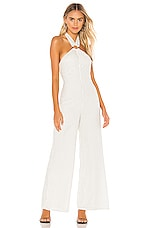 Tularosa Aubrielle Jumpsuit in Ivory & Black Dot