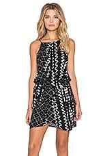 Tularosa Dani Drape Halter Dress in Black & White