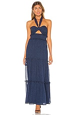 Tularosa Oliver Halter Maxi Dress in Navy