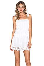 Tularosa Annabel Ruffle Dress in White