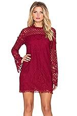 Tularosa x REVOLVE Matilda Lace Dress in Wine